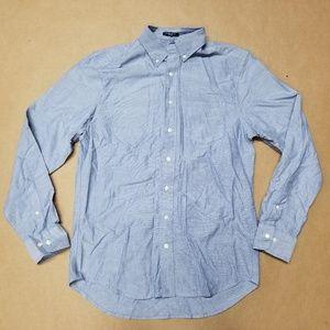 Gant Blue Bottom Down Shirt Men's US Size Small